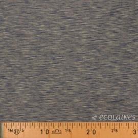 Tissu jersey sweat marine beige écolaine
