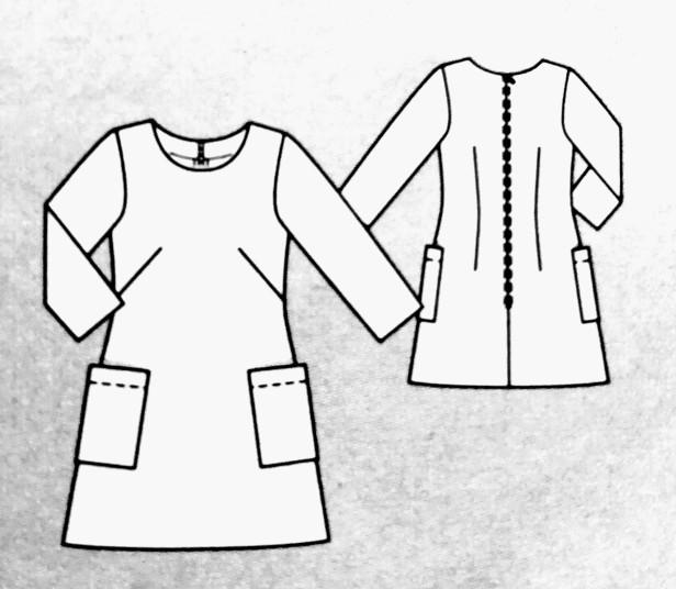 Burda Easy N° 89, Robe Manches 3/4