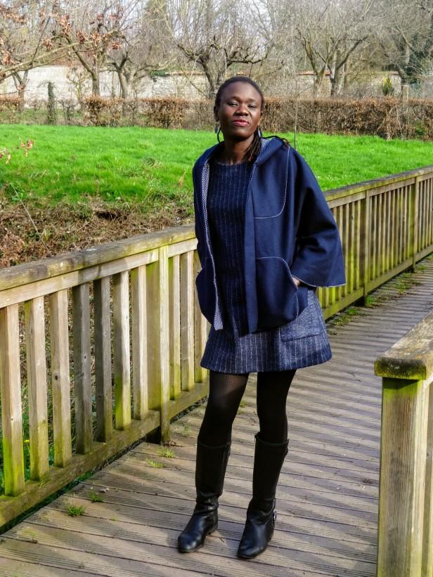 Robe à manches 3/4, Cape, Burda Style + Easy