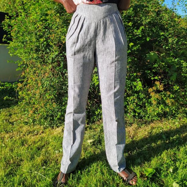 Pantalon en lin, Burda Style