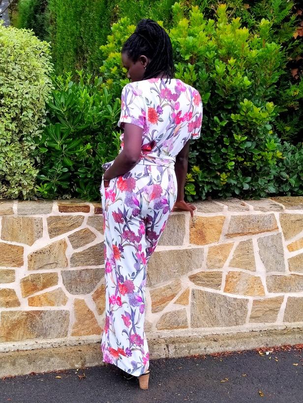 Combinaison pantalon Mina, Clématisse pattern