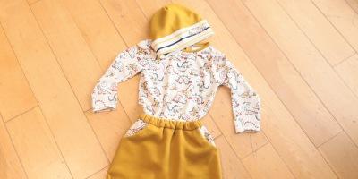 Bonnet Yo de Ivanne Soufflet, Pantalon Burda Kids, T-shirt patron maison @3petitslutins
